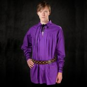 Violet Shirt With Lacing